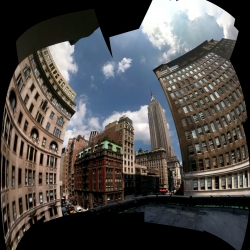 Photosynth is an app that allows you to stitch together photos taken on your iPhone to create three-dimensional panoramas and outrageously shaped photo collages.