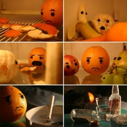 """I  caught her with another guy!"" - the dramatic story of an orange. Hilarious!"