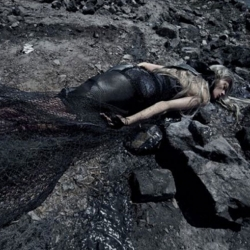 Vogue Italia & Steven Meisel are causing a stir with this new visually stunning photoshoot based on the Gulf Oil Spill. I think it's quite powerful and moving.