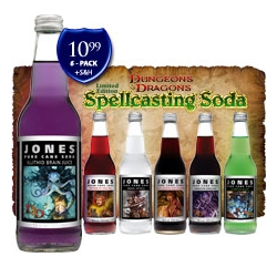 As a huge fan of Jones soda from the get-go, and a fan of board games that are traditionally geeky- this Jones Dungeons & Dragons soda demands to be purchased.