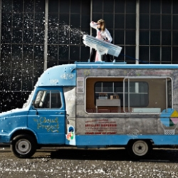 How to make the clouds rain ice cream. No, really. Designer Cathrine Kramer set out to turn this childlike fantasy into reality with Zoe Papadopoulou.