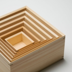Hand-crafted wood work by Jin Kuramoto for Mikamo.