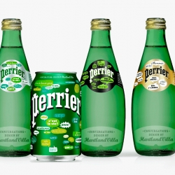 The small design studio Harltand Villa based in Paris and Kreo agency developed a nice campaign for Perrier trademark.