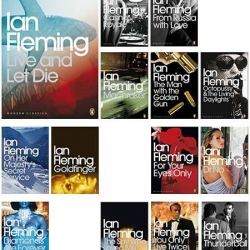 Ian Fleming's Bond Modern Classics by Penguin Books. Attractive cover design. Between 1953 and 1966, twelve James Bond novels and two short story collections by Fleming were published.