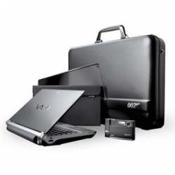 Sony unveiled the new limited edition Sony Casino Royale Spy Gear, integrating a Sony VAIO VGNTX007C notebook and a Cyber-shot 7.2 mgp digicam. - All in a 007 atache case. wtf?