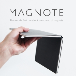 Magnote, the world's first notebook composed of magnets.