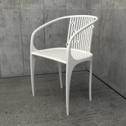 The soda chair: a gas-assisted injection molded arm chair by Rachael Stefanussen.