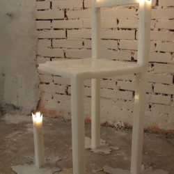 Candle Chair - Daniel Hulsbergen - Temporality sucks! is about the time aspect that furniture nowadays is undergoing. Like fashion it is going so fast that we don't appreciate furniture like we used to.