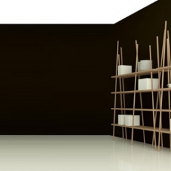 Gravishelf storage its made without any hardware and is held together with only gravitational force.