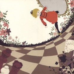 Alice, Hansel & Gretel, Little Red Riding Hood... Katogi Mari finds her inspiration in european classic tales and gives them new perspective with a candid acrylic&gouache style.