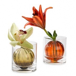"""Beautiful """"Weighted Sphere Vase"""" for that one flower that you keep next to your monitor on your desk."""