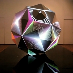 One of Dev Harlan's beautiful light sculptures