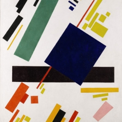 "Kazimir Malevich's ""Suprematist Composition"" (1916), sold for $60,002,500 at Sotheby's last night. Check out other works from the auction that brought in a total of $223,812,500 and included Edvard Munch's ""Vampire."""