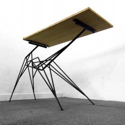 Arachnid Desk, bamboo & steel, by Benjamin Crilout.