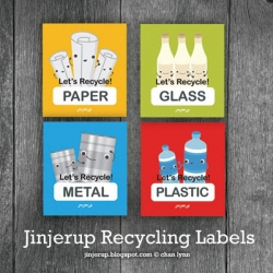 Cutest recycling labels from Jinjerup. Download them for free and have a nice Earth Day!!