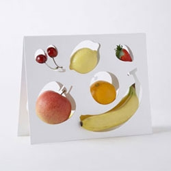 "The Fruit-Template - part of nendo's collection of 1% projects - where only 100 pieces of each product were made - ""to give owners the chance to experience the joy of owning 1%""!"