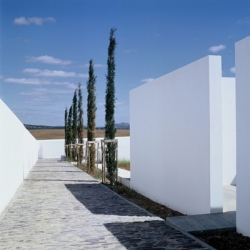 By Architects Pedro Pacheco + Marie Clément, Luz Cemetery is located in Luz, Mourão, Portugal.