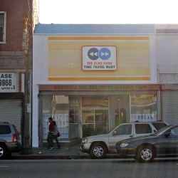 The echo park time travel mart. Need a day , a week, a year then come here. One of five stores of the 826 project .