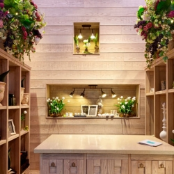 Fiori, a flower boutique in Kiev, Ukraine. All made of wood.