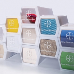 Bayer MaterialScience has won one of the prestigious 2010 iF communication design awards for its multi-media Sample-Box, designed by GOLDEN PLANET Design and soloTM Kommunikationsdesign.