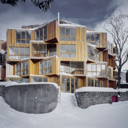 Huski Lodge, an Australian ski lodge designed by Elenberg Fraser.
