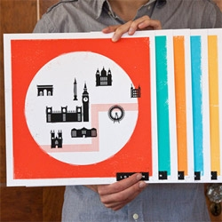 Love this new series of European city maps by These are Things: maps of Athens, Berlin, London, Madrid, Paris and Rome.