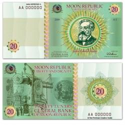 "Another joke from designer Vladislav Novikov-Barkovsky and the company ""Red Richman"" - Money of ""Moon Republic"""