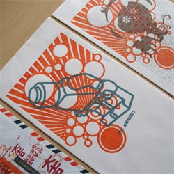 Amazing Gocco prints by Wing-Ip Ngan of Ink Design.