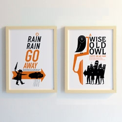 Sub-Studio's brand new nursery rhyme print series inspired by our favorite childhood rhymes.