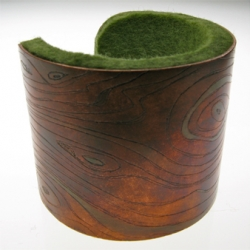 Copper and felt cuff bracelet inspired by natural surroundings from Portland designer Nicole Fischer.