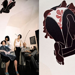 """revealing the ardent desire of a defined space. finding the design. tattooing the wall"""