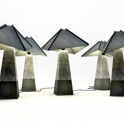 Concrete & Leather lamps by studio belenko!