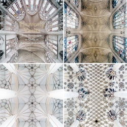 Heavenly Vaults, by David Stephenson, catalogs the domes of eighty different cathedrals built between the 12th and 16th centuries in Europe. The domes are almost abstract in their structure and pattern, becoming something more transient and emotional.