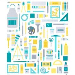 Eat, Sleep, Create - a new print by Emily Dumas celebrating art and creativity!