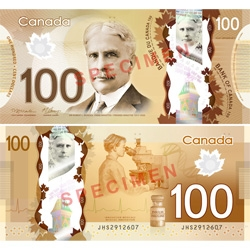 At the cutting edge of currency and security, The Bank of Canada recently unveiled the new designs for the $100 and $50 bank notes made out of polymer.