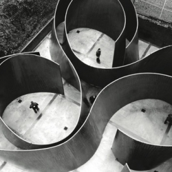 "Richard Serra's massive sculpture ""Cycle,"" 2011, will debut at Gagosian in September."