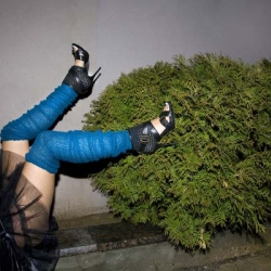 Tommy Agriodimas' Guy Bourdin inspired photography project Legs, is all about legs in very strange places.