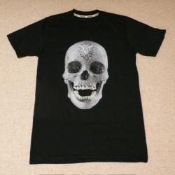 For those that do not have the 98 Mio. USD available for the sculpture, there is now the Diamond Skull t-shirt series by Damien Hirst!!!