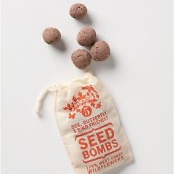 Gorgeous packaging by VisuaLingual for a set of seed bombs available at Anthropologie for those in the US —you can get them tailored to your location: East Coast, West Coast or Midwest.