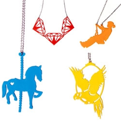 Dapple Grey's new One Trick Pony line of jewelry - with clever integration of the chain into the design!