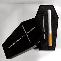 Didac Catalán of Lowink Studio packages the last cigarette you'll ever have.