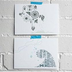Waves - gorgeous letterpress print collaboration between Lena Corwin and Port2Port Press.