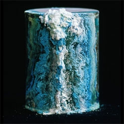 David Maisel's beautiful and haunting photos from his Library of Dust project (the book is coming out in a few months). Each corroding canister holds the cremated remains of patients from an American psychiatric hospital. BLDGBLOG has a great article on the project.