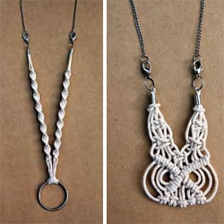Macrame necklaces by Small Town.