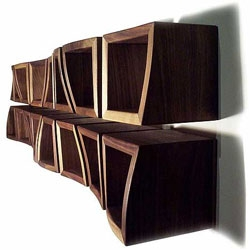 Sascha Akkermann's Procontra shelving system - love the topographical nature of the shelves.