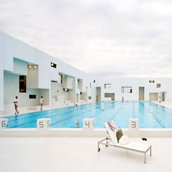 Jean Nouvel's aquatic complex Les Bains des Docks, recently opened in Le Havre, France.