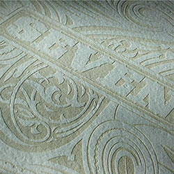 Luca Ionescu's Laser Etched Poster for Refill 7 (see also 3453 for their gorgeous laser cut skate decks).