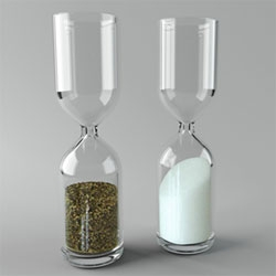 Hourglass salt and pepper shakers by Vitamin.