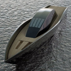 Along the lines of post 13070, Designboom has a nice round up of some designer yachts. Above is Mael Oberkampf's Raven