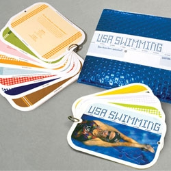The Tenfold Collective designed the USA Swimming sponsor brochure for the Beijing Olympics.